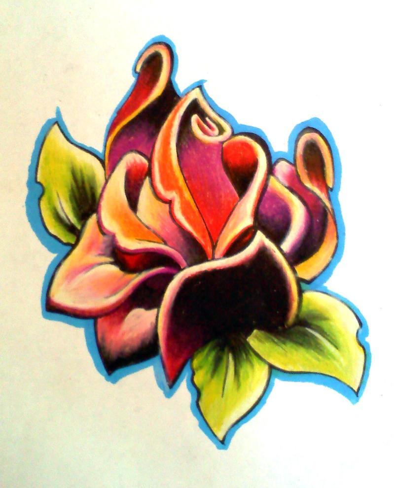 Deco Rose by Uken on DeviantArt