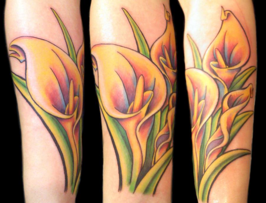 Calla Lilies Tattoo by Uken