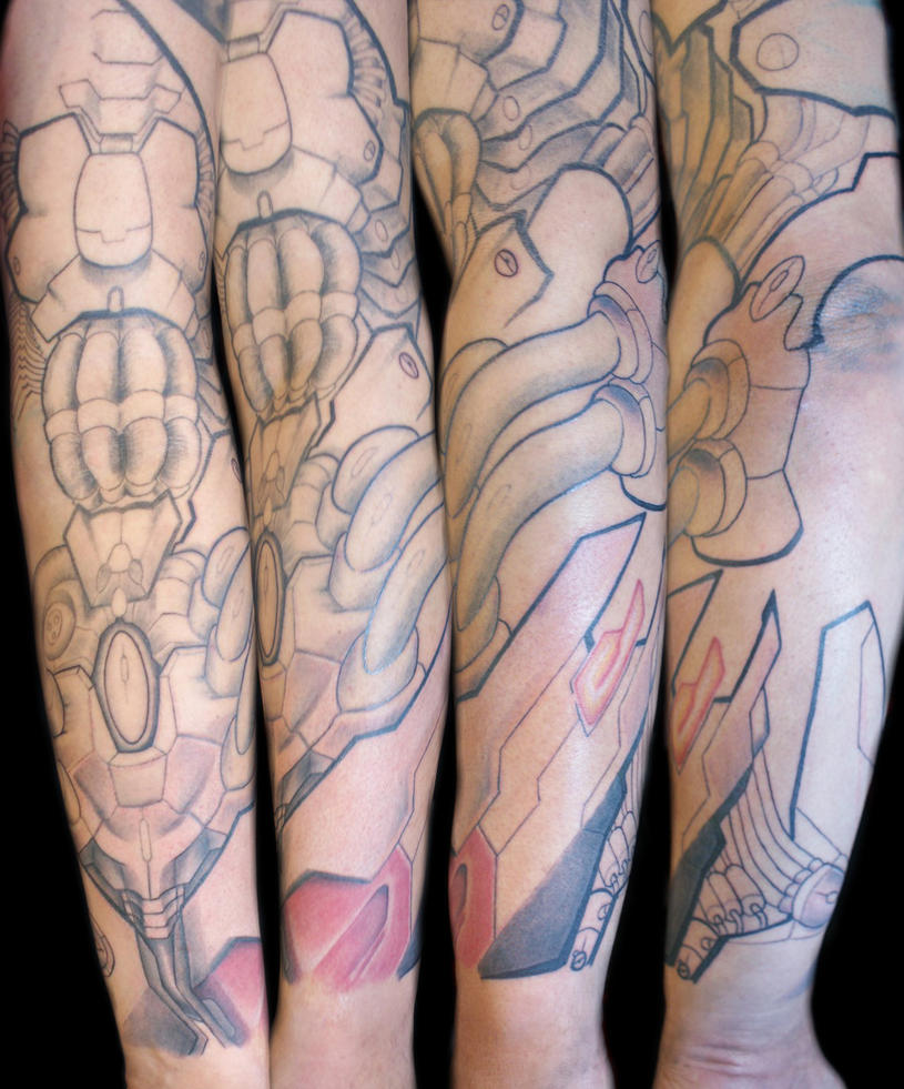 Mech Sleeve Session 2 by Uken
