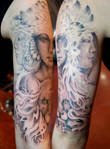 3 headed goddess half sleeve