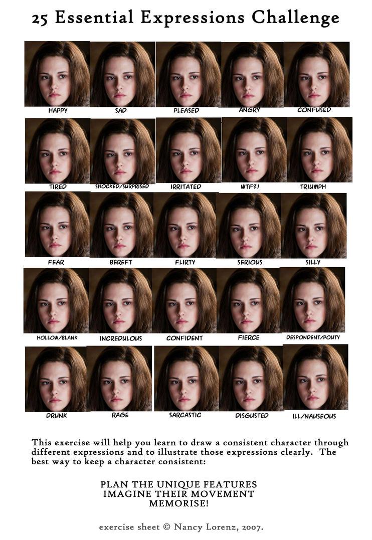 25 Essential Expressions MEME-Kristen Stewart by MissHermionee