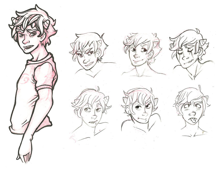 Karkat Character Sheet by lesliesketch