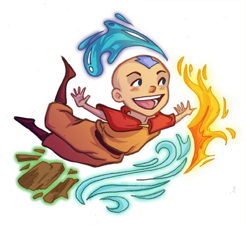 Aang Sticker by lesliesketch