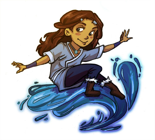 Katara Sticker by lesliesketch