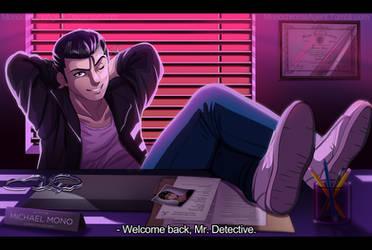 Detective Gabriel by MonochromeAgent