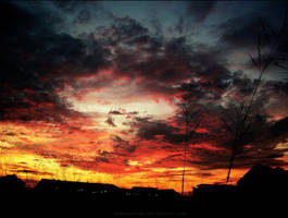 Burn Burn Burn the Sky by freaksnerds