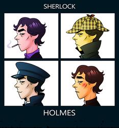 Sherlock - Gorillaz Style by whimsycatcher