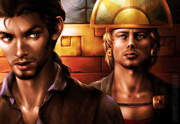 Crossover: Merlin x Road to El Dorado by whimsycatcher