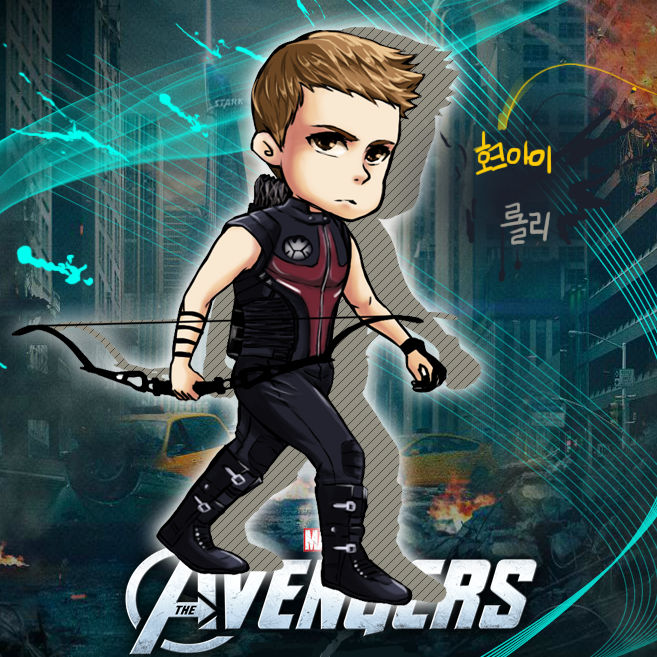 SD Hawkeye Clint Barton in AVENGERS