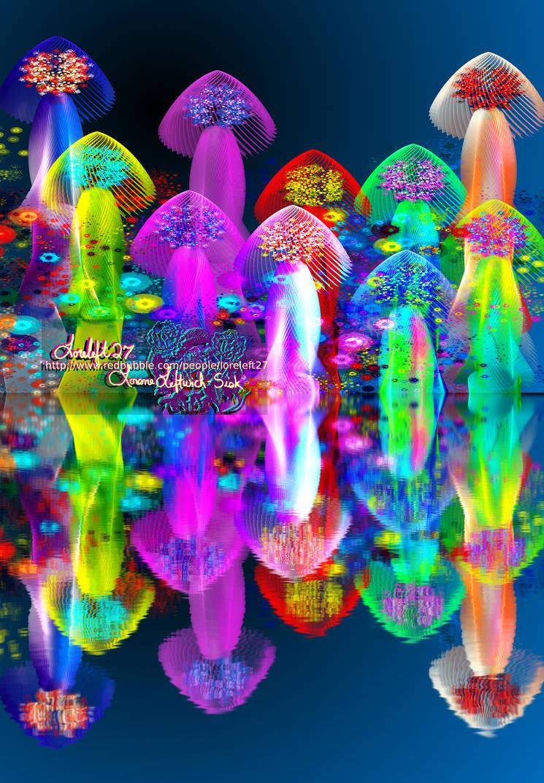 mushroom magical garden