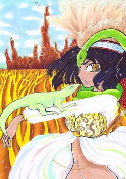 Challenge with Tianasama : Reptile Girl
