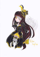 Chibi Fallen Angel by kathe-cat