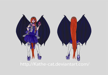 Vampire Girl Concept Art by kathe-cat