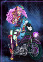 Moto Girl by kathe-cat