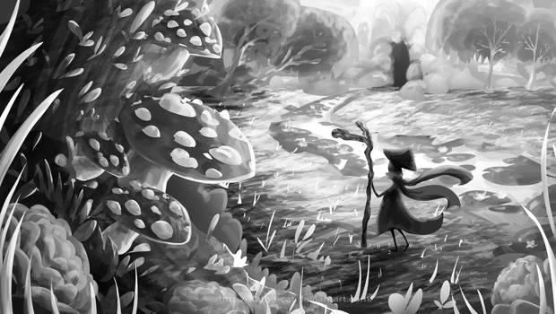 mushroom Bg  shadow