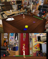MMD IT crowd stage (testing) by IgnisDraconi