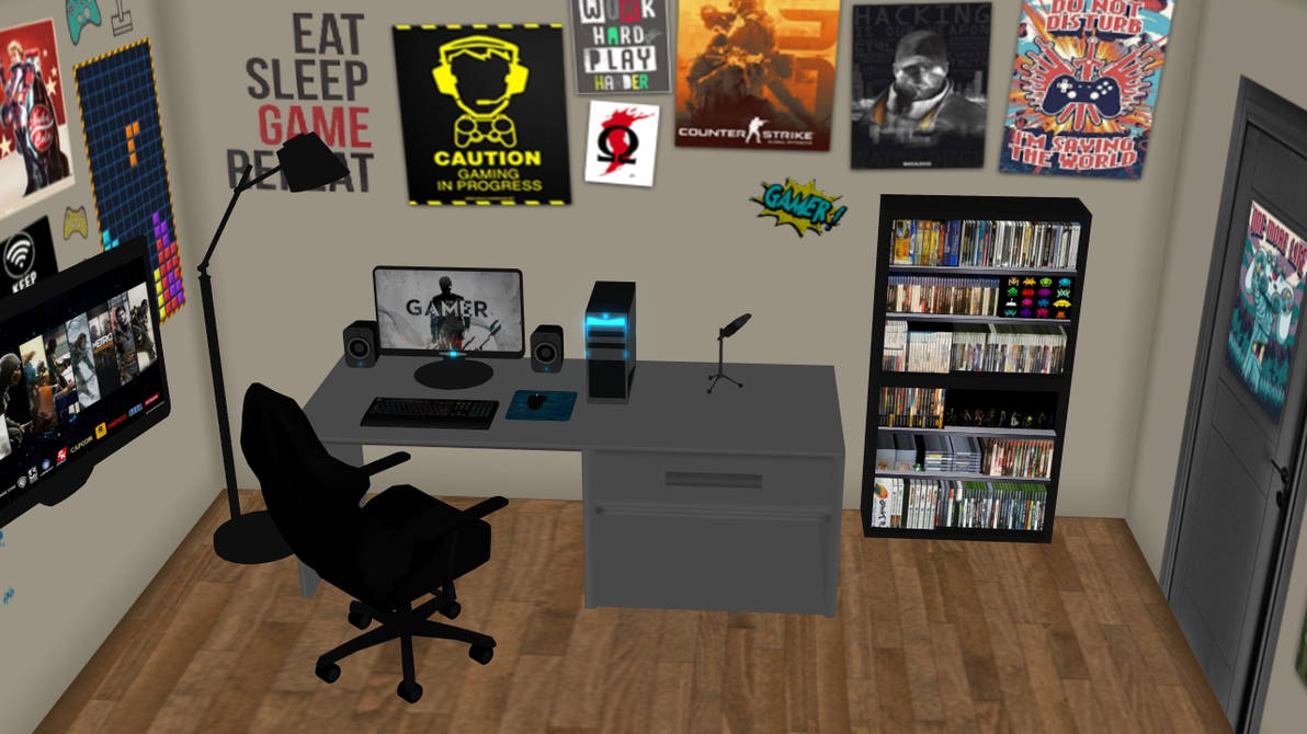 Mmd Stage Request Gamer Room No Dl By Ignisdraconi On Deviantart