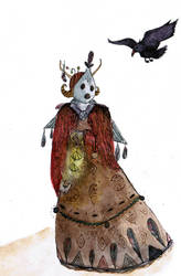 Masque de la mort (pas vraiment rouge)