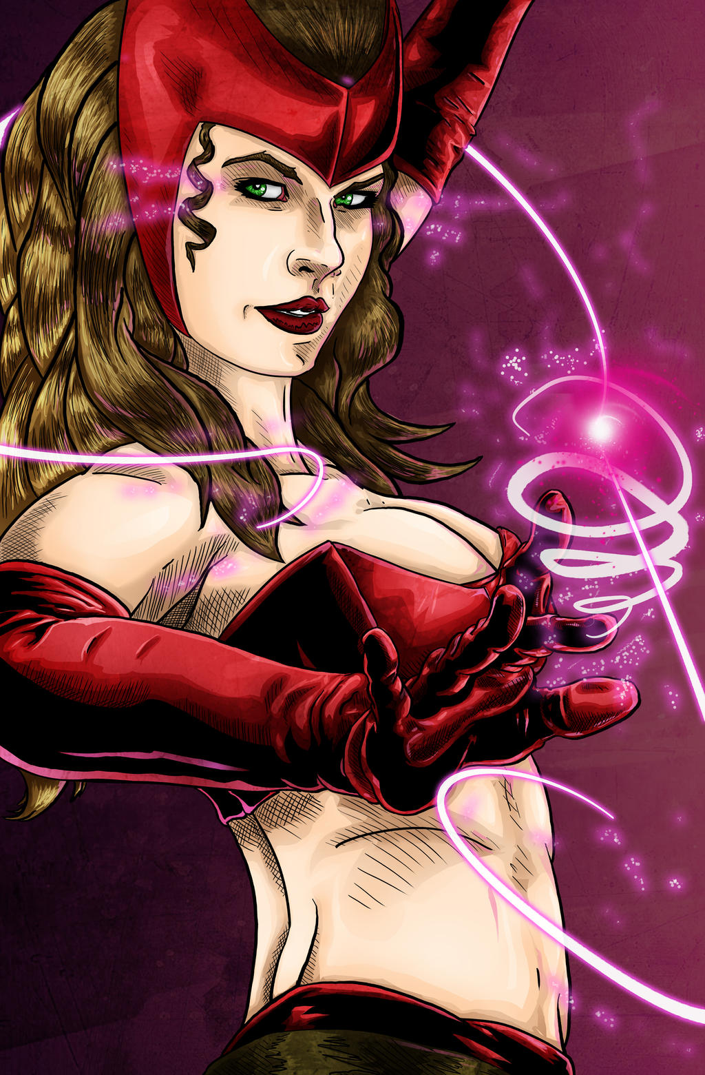 Scarlet Witch by MarcOuellette