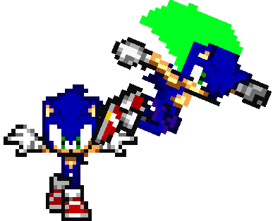 Sonic and Grasp sonic by BlakkersMan