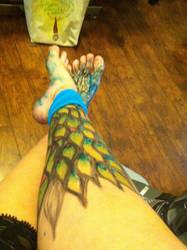 peacock leg
