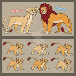 Lion Couple and Cubs Adopts: 1