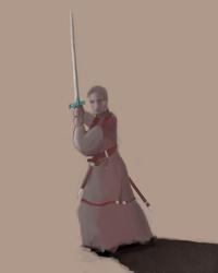 SwordWarriorSketch by AsodR