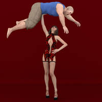 Sexy One Hand Overhead Lift by jonybravo16