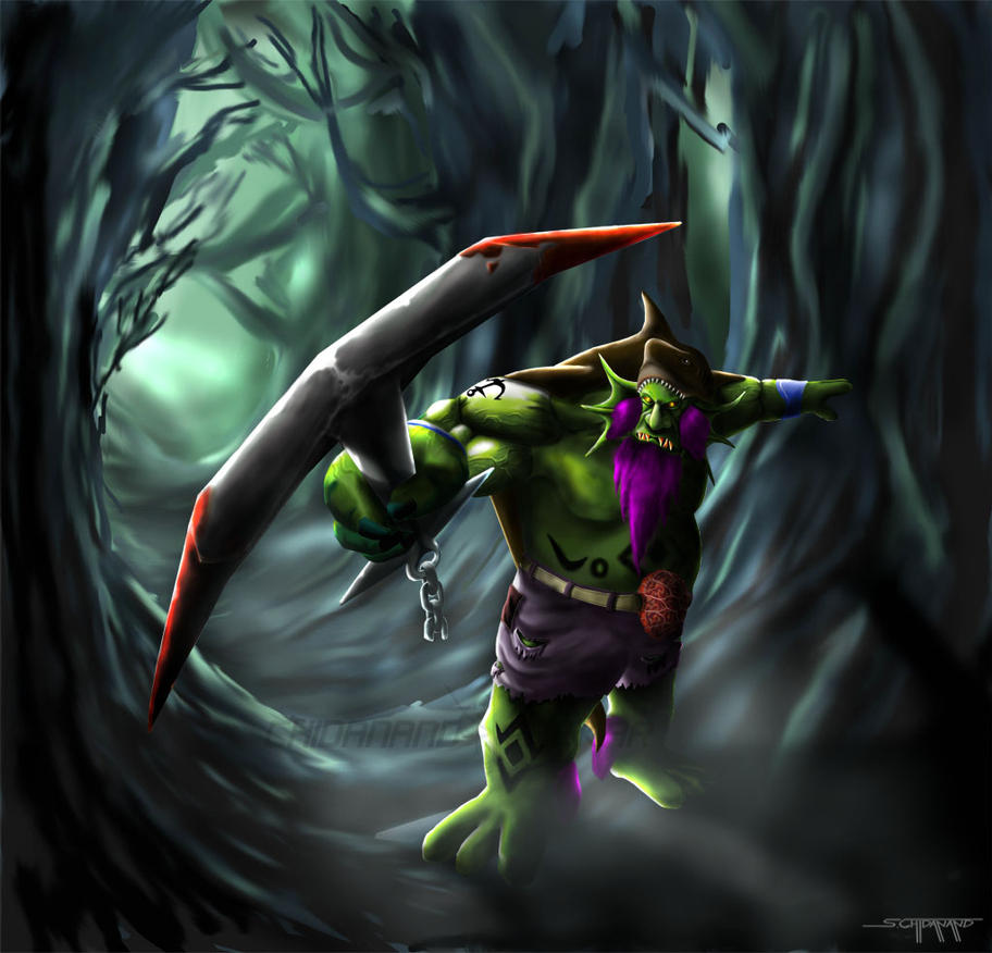 Dota Leviathan The Tidehunter By Xyzofart