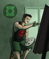 Kyle Rayner - Painting