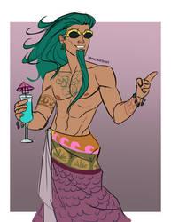 Hades Beach AU Poseidon