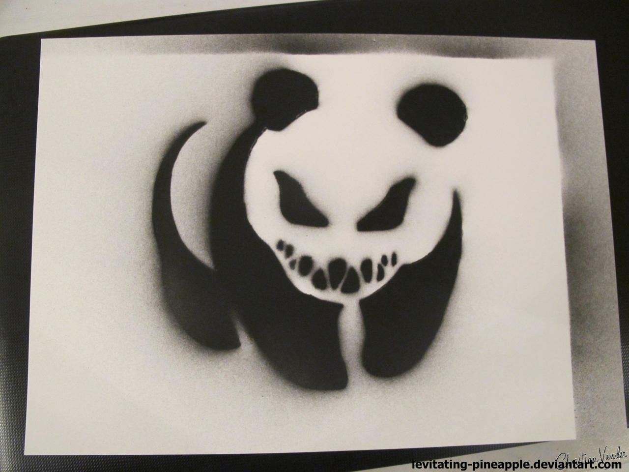 spray paint stencils pandeath black and white spray stencil by levitating 29454