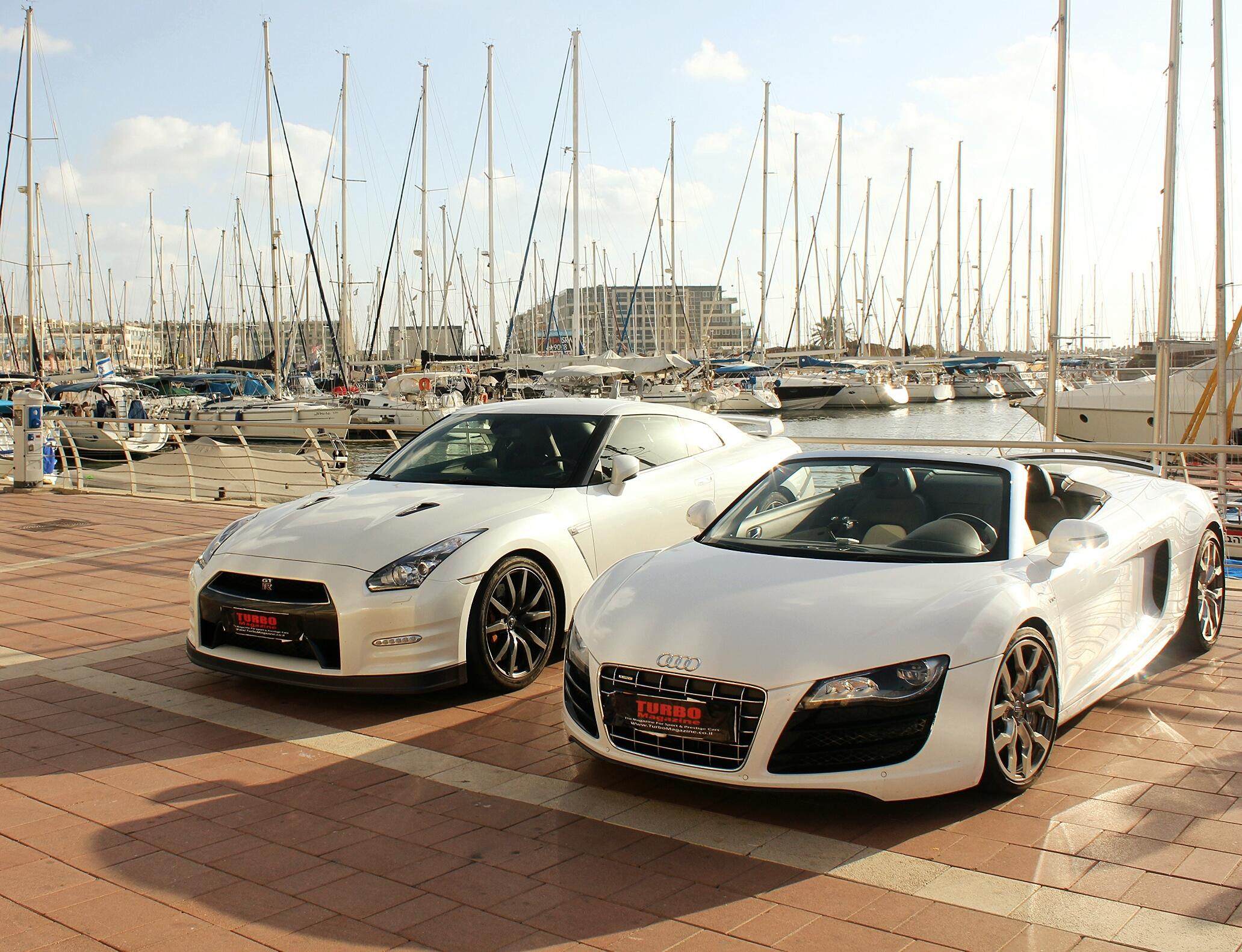 Audi R8 V10 Spyder And Nissan Gt R R35 By Daharid On
