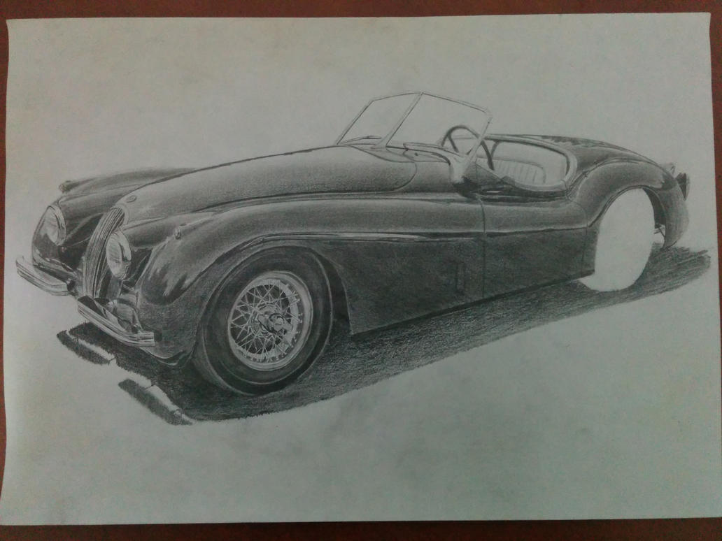 Jaguar XK-120 1947 WIP by daharid