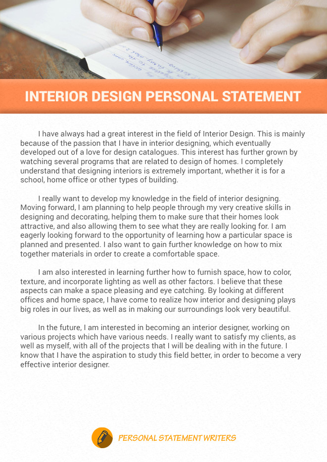 Interior Design Personal Statement Sample by sopforgraduateschool on