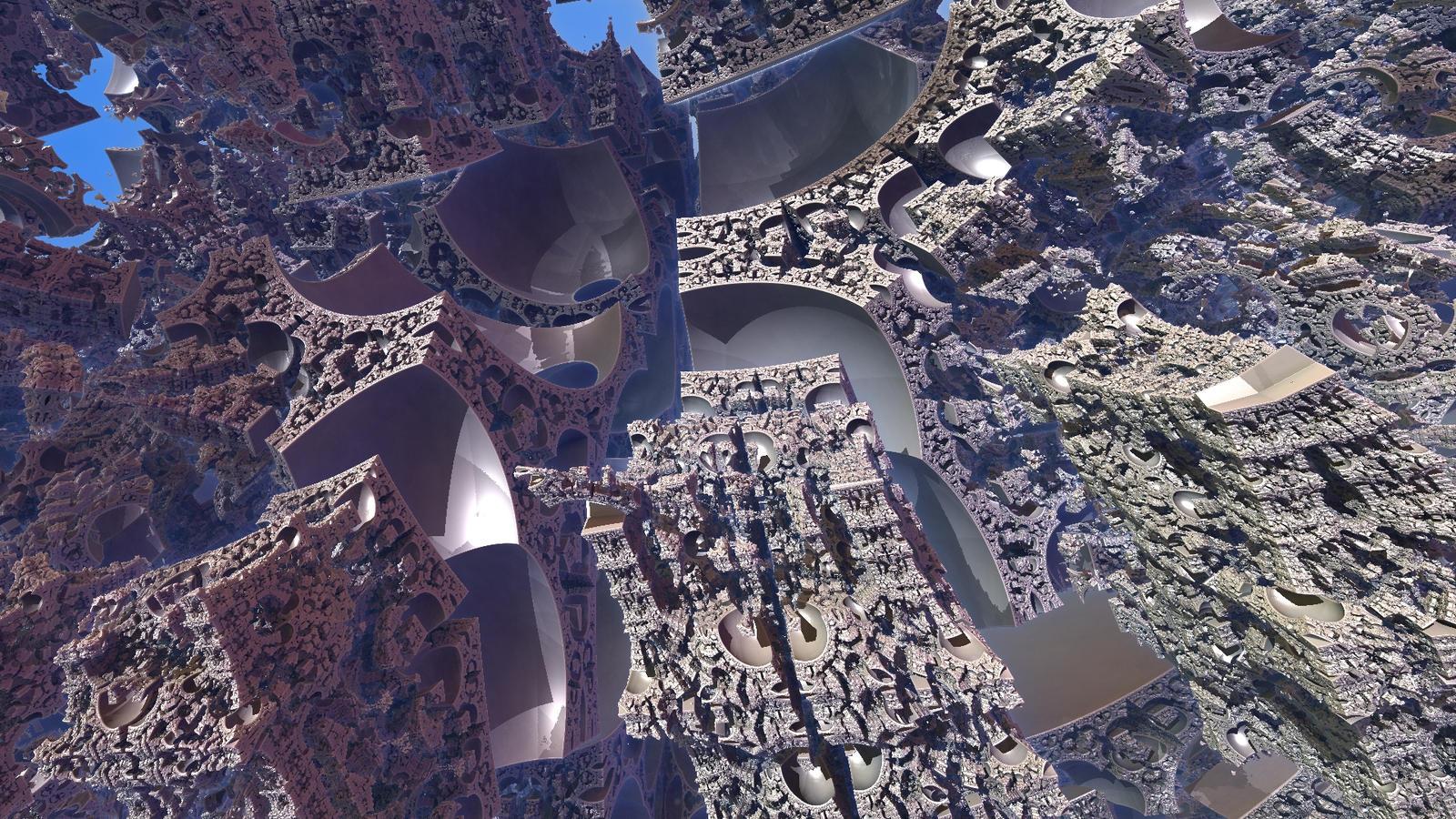 Inside Tglad's Cube fractal 3 by KrzysztofMarczak