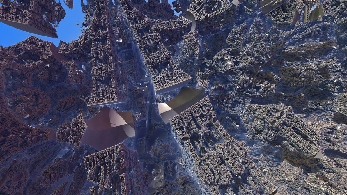 Inside Tglad's Cube fractal 4 by KrzysztofMarczak