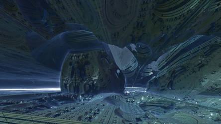 Inside Mandelbox scale 2 by KrzysztofMarczak