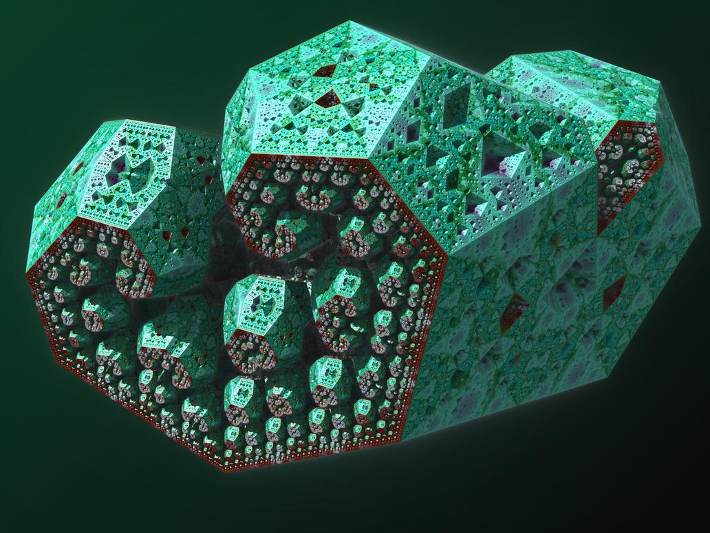IFS fractal 1 by KrzysztofMarczak