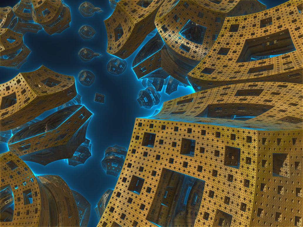 Hybrid fractal 11 by KrzysztofMarczak