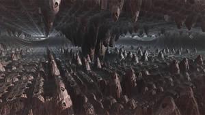Mandelbox - artificial cave by KrzysztofMarczak