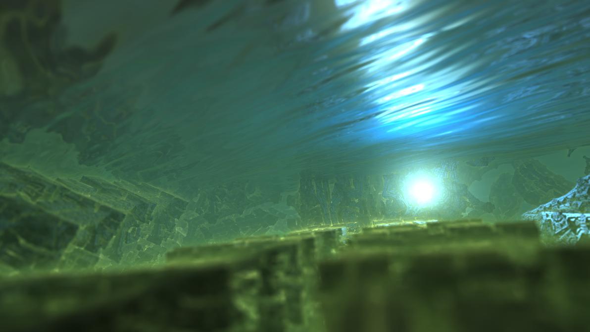 Mandelbox 151 - underwater by KrzysztofMarczak