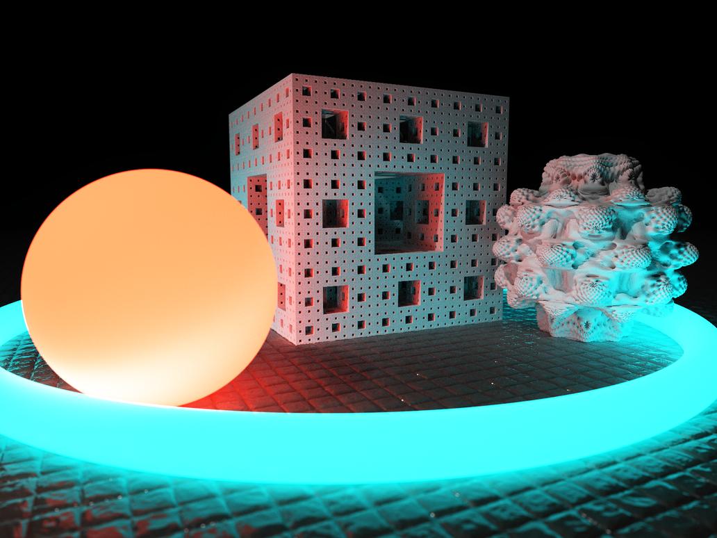 Global Illumination effect in Mandelbulber program by KrzysztofMarczak