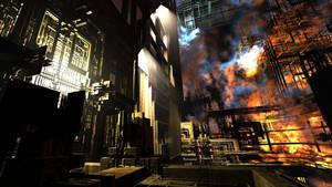 Factory in fire