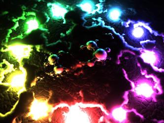 Rainbow circle of light