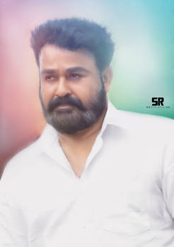 Mohanlal Smudge Painting