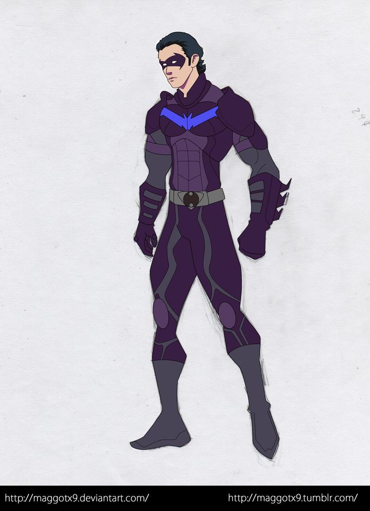 Nolan Nightwing by Maggotx9