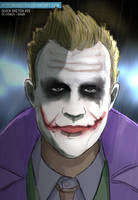 Heath Joker with short hair by Maggotx9