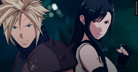 Final Fantasy VII remake Cloud and Tifa Anime