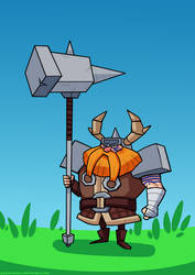 A dwarf and your giant hammer